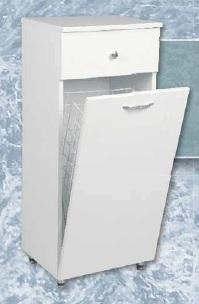 Paula Mini álló fürdőszoba szekrény szennyestartóval -