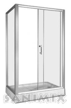 Szögletes zuhany kabin