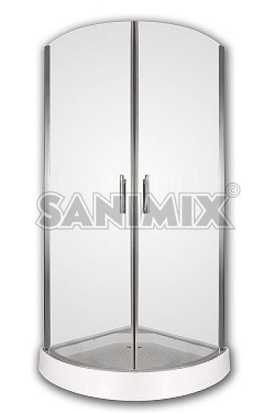 Sanimix 22.121 Berlin íves zuhanykabin zuhanytálcával 90x90x200 + ...