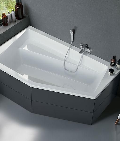 Niagara Vesper 160 x 100 aszimmetrikus akril fürdőkád - jobbos ...